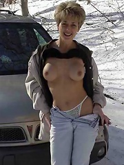 Naked By The Car^watch Our Wives Mature Porn Sex XXX Mature Mom Free Pics Picture Gallery