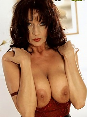 Sexy Brunette Milf In Red Lingerie^40 Something Mag Mature Porn Sex XXX Mature Matures Mom Moms Erotic Pics Picture Gallery Free