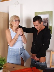 Granny Bent Over The Table^my Wifes Mom Mature Porn Sex XXX Mom Picture Pics