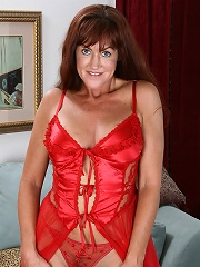 Tight Bodied And Mature Shauna Shows Off Her Red Lingerie^all Over 30 Mature Porn Sex XXX Mom Picture Pics