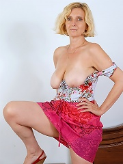 51 Year Old Milf Hillary Shows Off Her Natural Tits And Furry Pussy^all Over 30 Mature Porn Sex XXX Mom Picture Pics