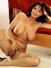 Mature Babe Jaroslava Fucks Herself^40 Something Mag Mature Porn Sex XXX Mom Picture Pics